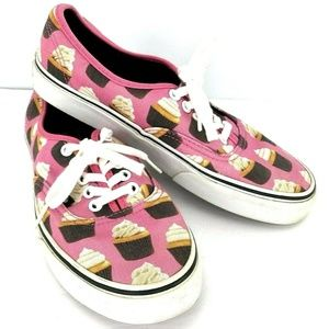 Vans Authentic W 8  Hot Pink Cupcake Shoes